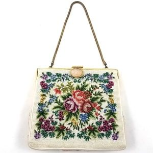 Handbags - Vintage Embroidered Micro Petit Point Floral Purse